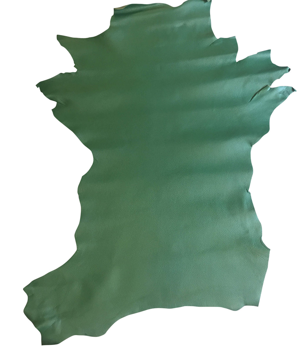 Green Genuine leather hides for Upholstery