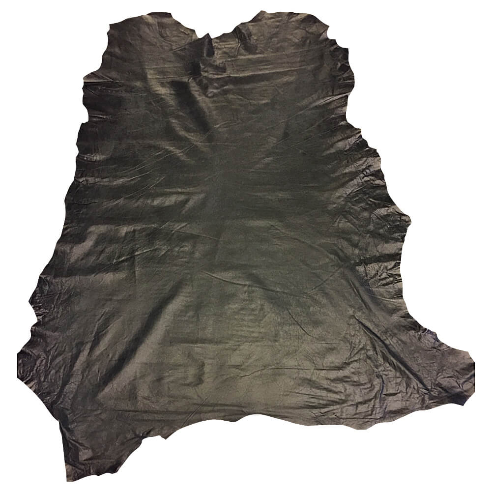 Soft Genuine Black Leather Hides for crafting
