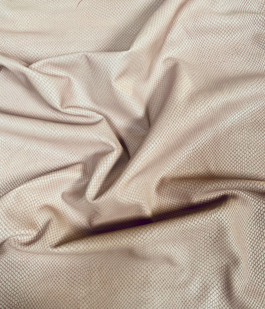 Genuine leather hides embossed reptile material