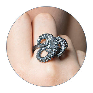 tentacle ring, octopus ring, tentacles, tentacle, peggy skemp jewelry, peggy skemp