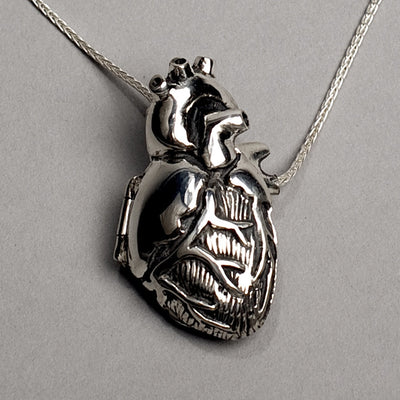 Original silver anatomical heart locket peggy skemp jewelry original silver anatomical heart locket aloadofball Choice Image