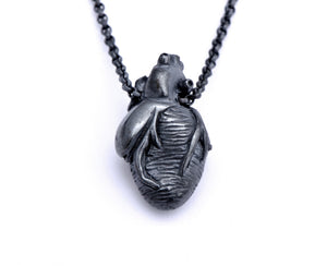 Black Original Anatomical Heart