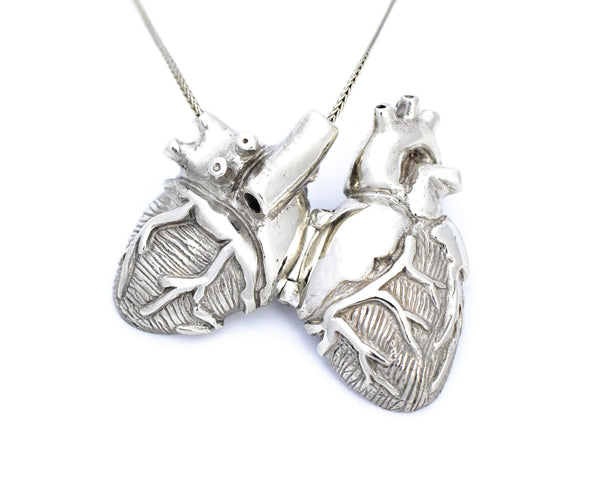 Bronze Anatomical Heart Locket