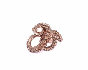 Carnation Silver Tentacle Ring