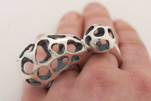 Lattice Stinkhorn 2-Finger Ring