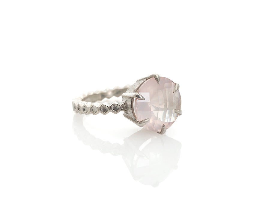 Rose Quartz Solitaire