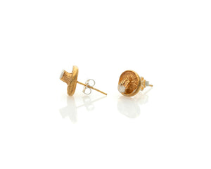 Golden Oyster Fungi Earrings