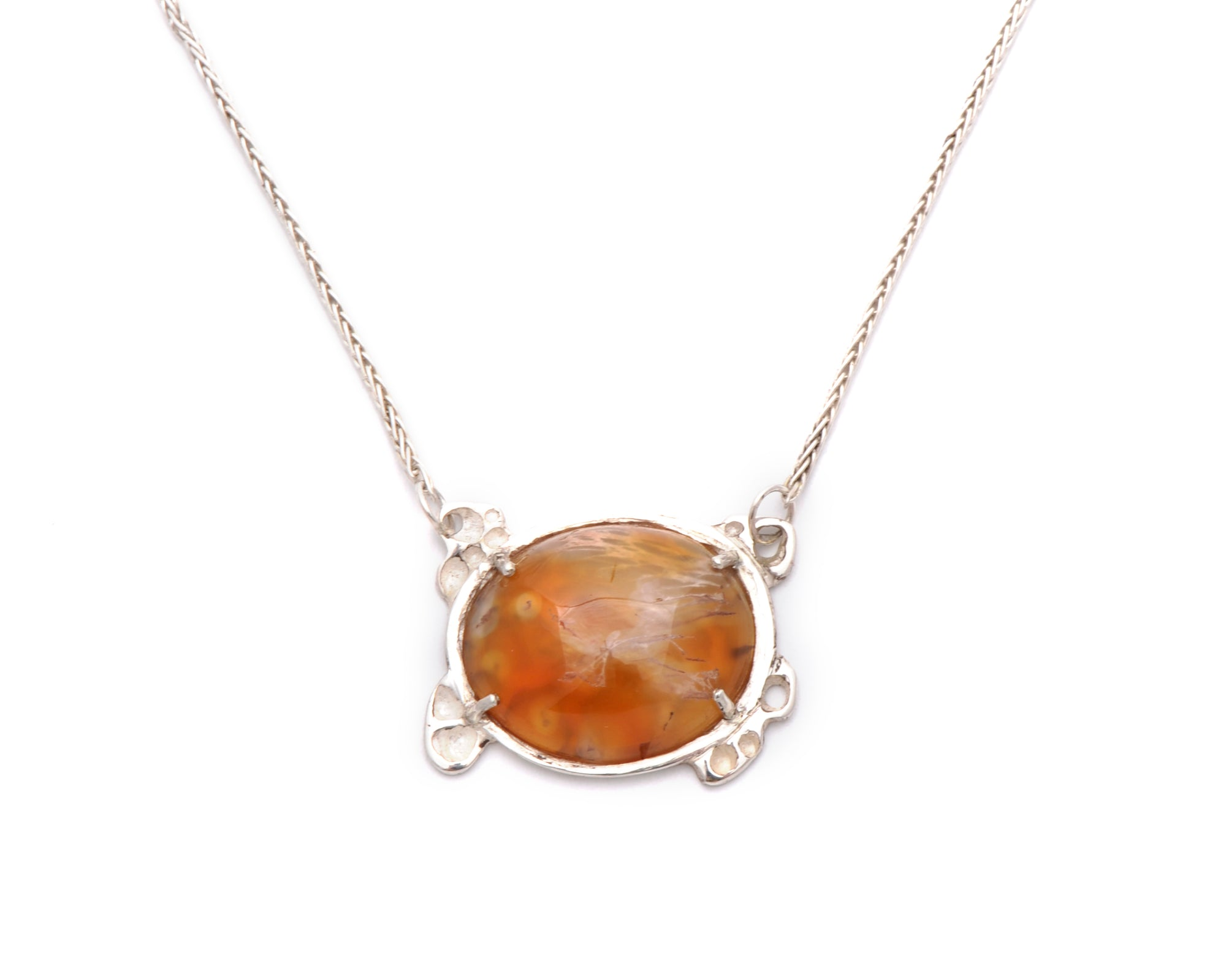 Agate Honeycomb Necklace