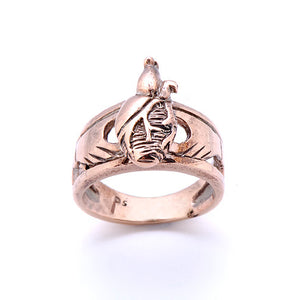 Carnation Silver Claddagh Ring