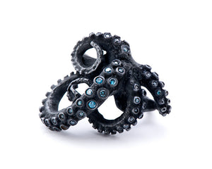 Blue Diamond Tentacle Ring