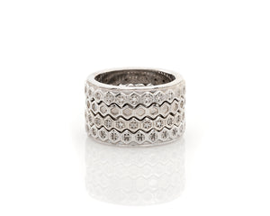 Silver Honeycomb Band