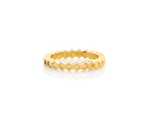Gold Honeycomb Band