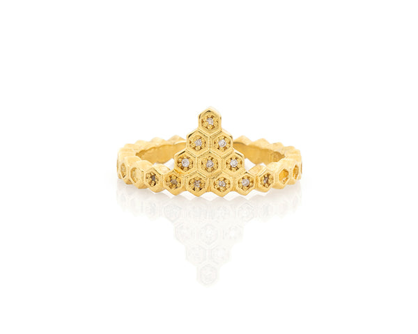 Honeycomb Crown Ring