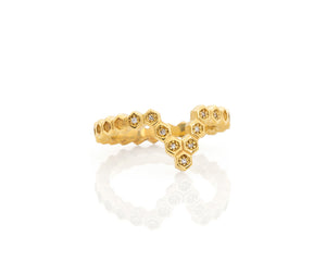 Honeycomb V Ring