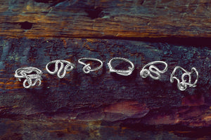 Earthworm Wave Ring