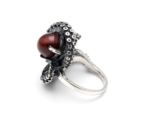 Cats Eye Rutile Tentacle Ring