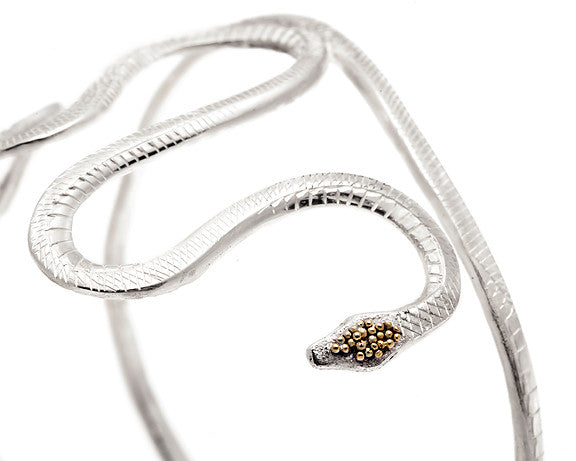 Snake Bracelet with 22k Gold Granulation
