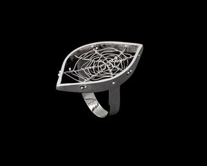 Orbweaver Mini Navette Ring