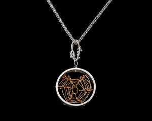 Small Rose Gold Orbweaver Circle