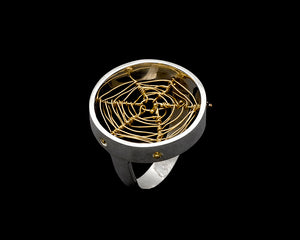 Gold Orbweaver Ring