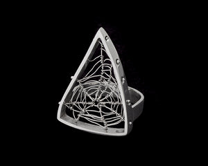 Triangle Spiderweb Ring
