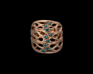 Golden Branch Ring