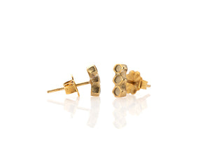 Honeycomb 3 Cell Earring