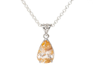 Rutilated Topaz Honeycomb Pendant