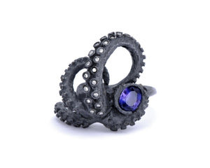 Color-Change Sapphire Tentacle Ring