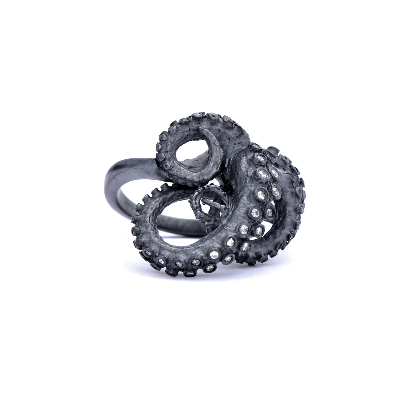 Diamond Tentacle Ring