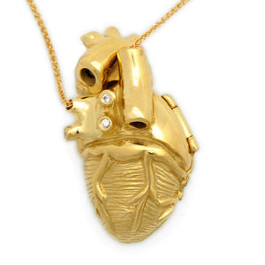 18ky Gold Anatomical Heart Locket