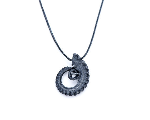 Large  Silver Tentacle Necklace