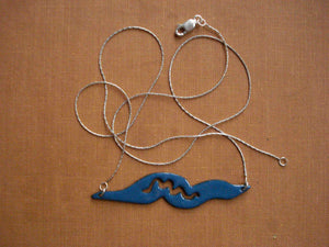 Teal Nematode Silhouette Necklace