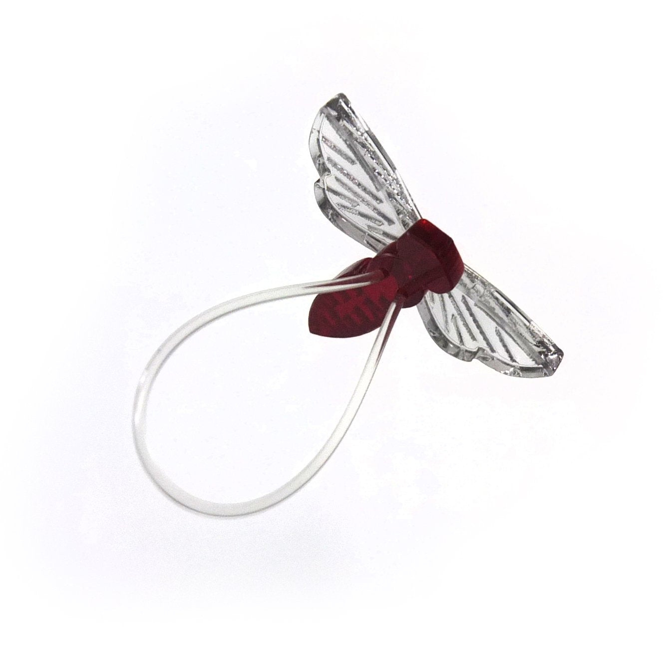 Insect ring / Fly darkred