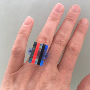 square ring /neon mix