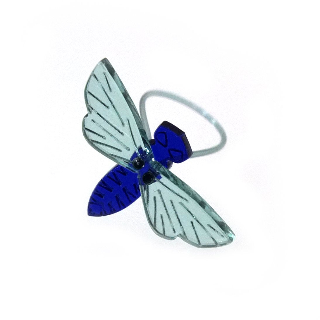 Insect ring / Fly darkblue
