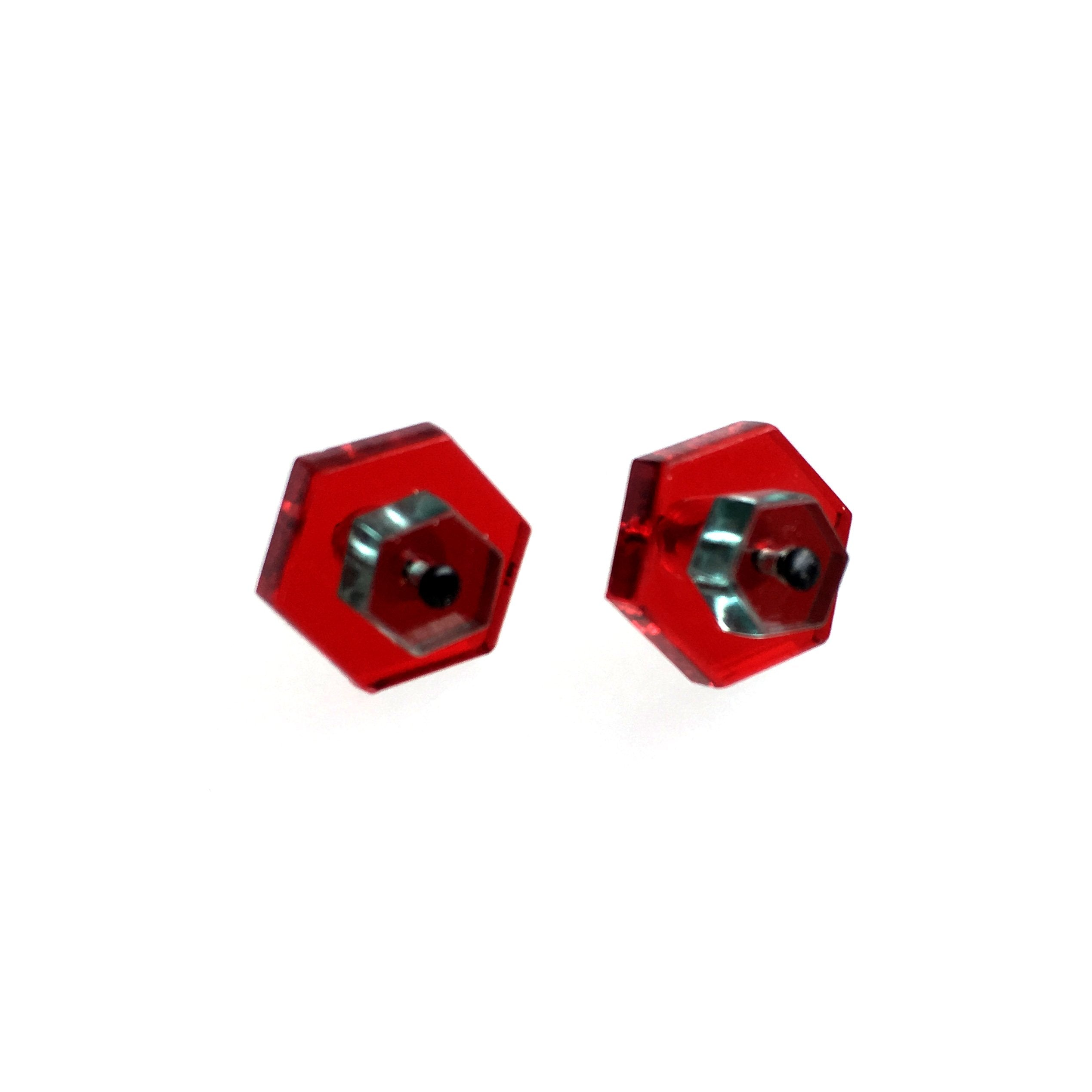 earstuds/ hexagon