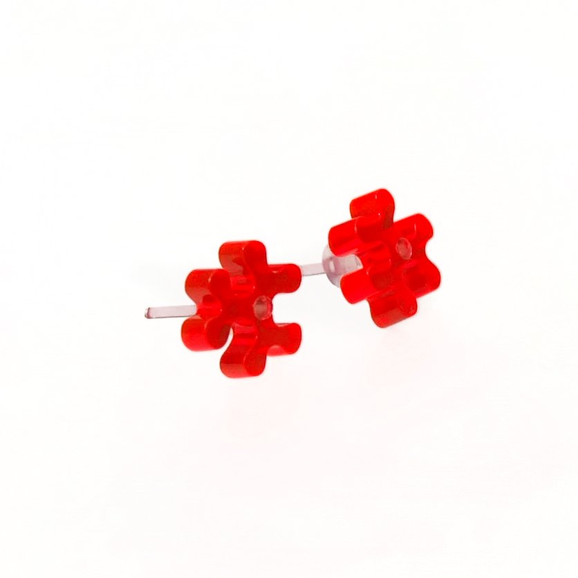 Studs / Three bone / neonred