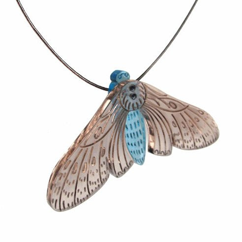 Moth / necklace