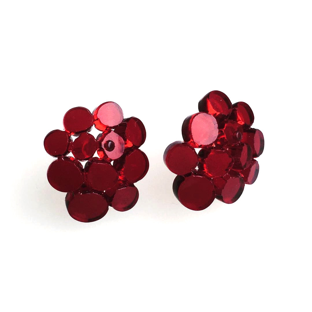 Large ear studs / Berry