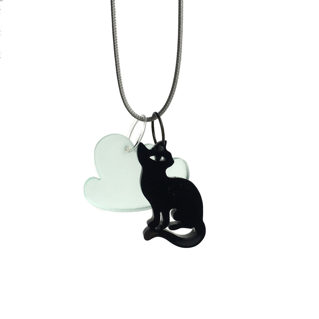 Figure necklace / Cat and Cloud