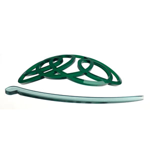 Hair clip / squiggle green