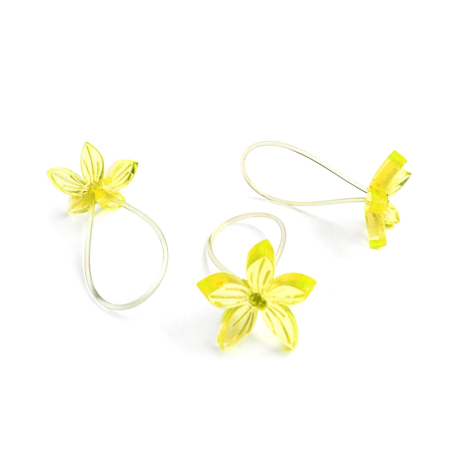 Flower ring / light yellow