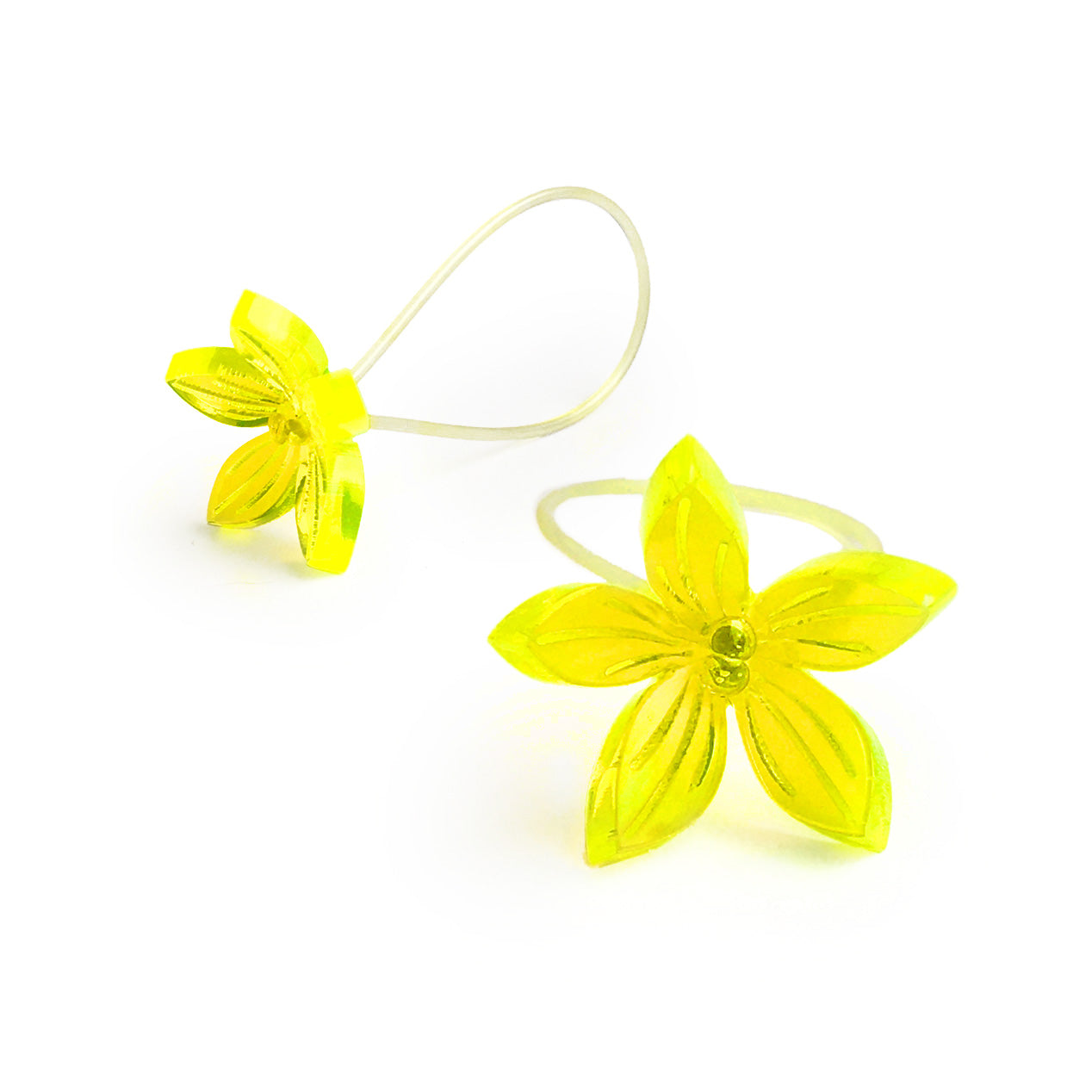 Flower ring / neon yellow