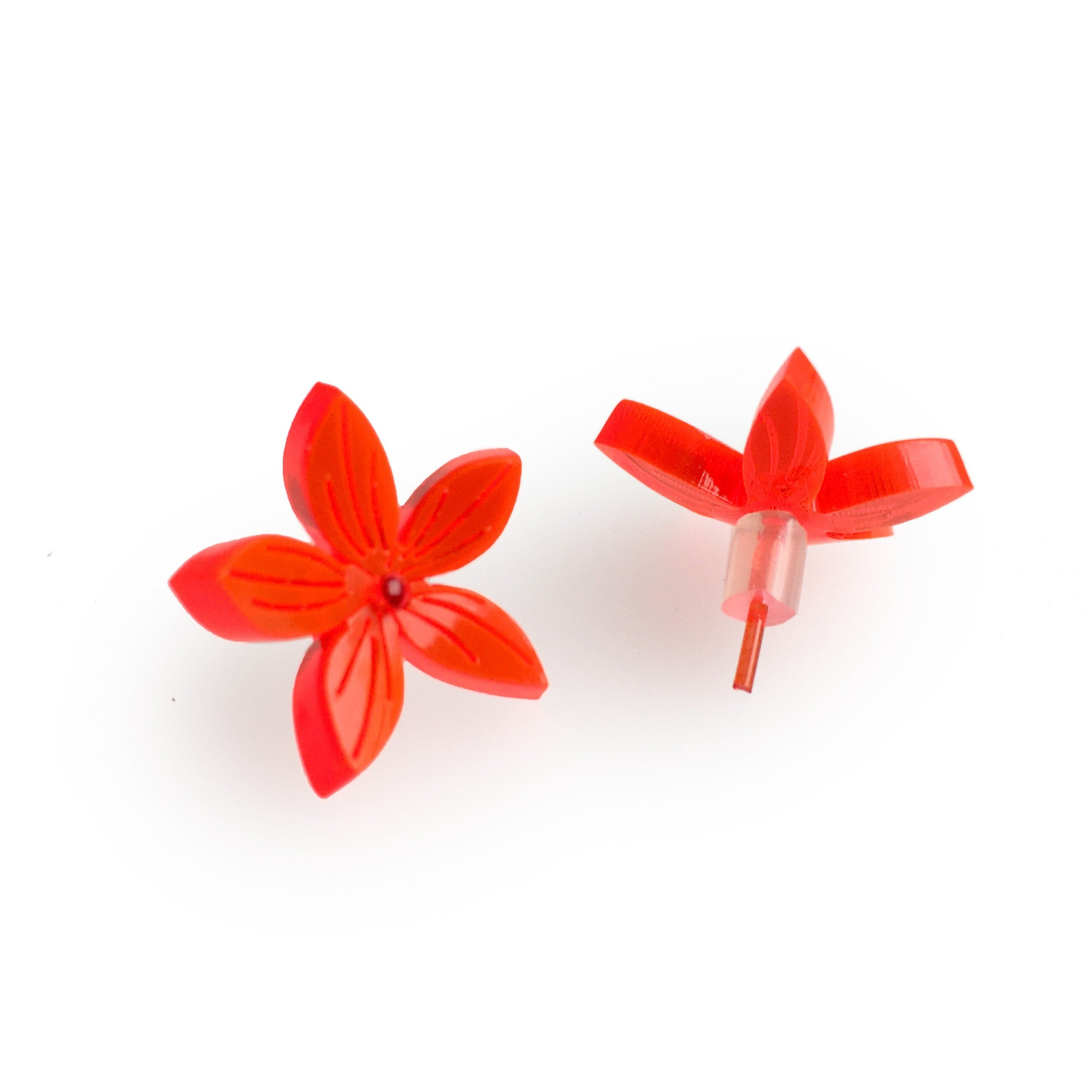 Large ear studs / Flower