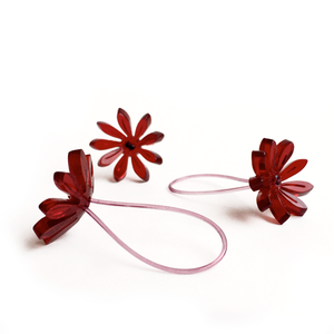 Flower ring /dark red