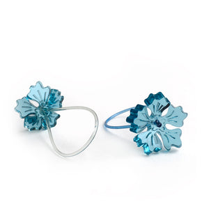 Flower ring / turquoise