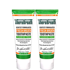 Fresh Breath Toothpaste –  Mild Mint Flavor – 4-oz. Tubes – Two-Pack