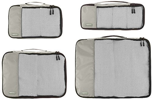 4-Piece Packing Cube Set - Small, Medium, Large, and Slim, Gray