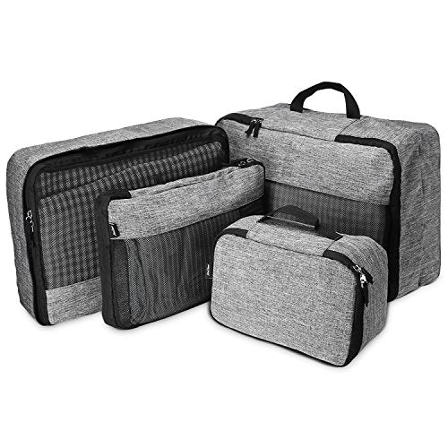 ProCase 4 Set Packing Cubes, Compression Travel Luggage Organizers Bag